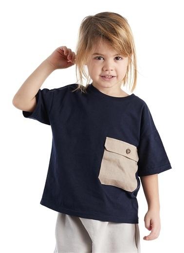 Colorinas Big Pocket Oversize Tshirt Lacivert